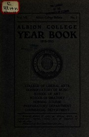 Vol 1910-11: Year-book of Albion College for ..