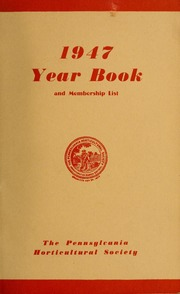 Vol 1947: Yearbook of the Pennsylvania Horticultural Society