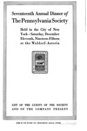 Year book of the Pennsylvania Society of New York