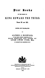 Vol 1: Year Books of the Reign of King Edward the Third ...