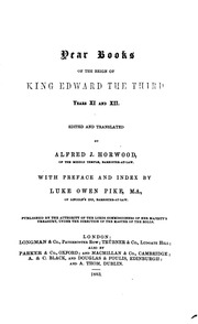 Vol 11-12: Year Books of the Reign of King Edward the Third