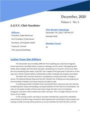 I. A. Y. C. Club Newsletter