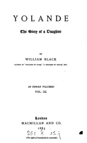 Vol 1: Yolande: The Story of a Daughter