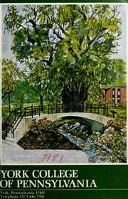 Vol 1980-1981, Vol. 37: York College of Pennsylvania