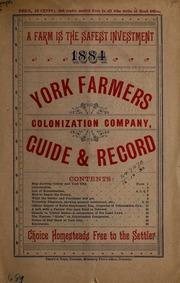 York Farmers Colonization Company, guide and record.