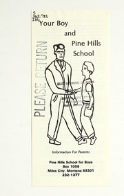 Vol 1980: Your boy and Pine Hills School : information for parents