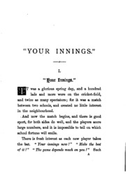 Your innings, a book for schoolboys