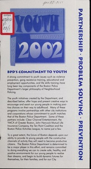 Youth initiatives, summer 2002