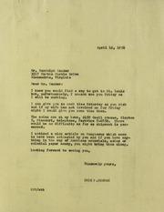 Randolph Zander Correspondence, 1956-1973