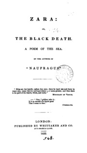 Zara: or, The black death, a poem of the sea, by the author of Naufragus.