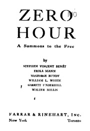 Zero Hour A Summons To The Free