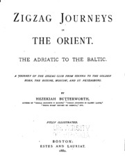 Vol 3: Zigzag journeys in the Orient. The Adriatic and the Baltic