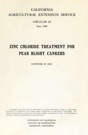Vol E45: Zinc chloride treatment for pear blight cankers